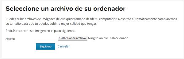 seleccionar un archivo desde ordenador con gravatar (rosapanos.com - Pildoras de TIC)