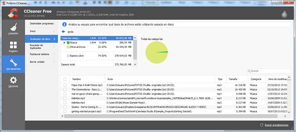 CCleaner-herramientas-analizador disco-resultados en rosapanos.com