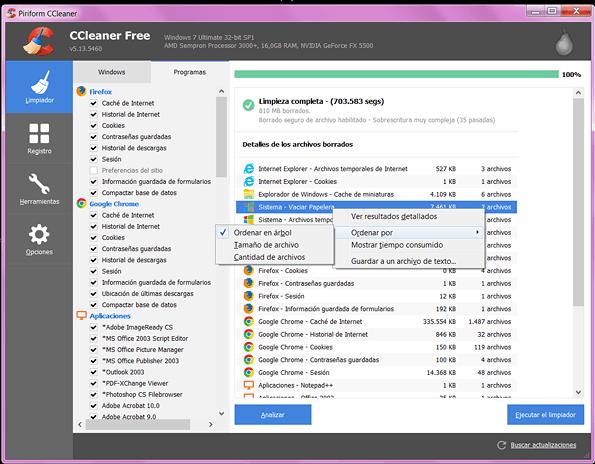 CCleaner-resultados del limpiador en rosapanos.com - Pildoras de TIC