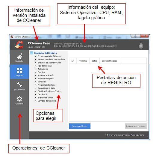 Interfaz Principal CCleaner en rosapanos.com - Pildoras de TIC