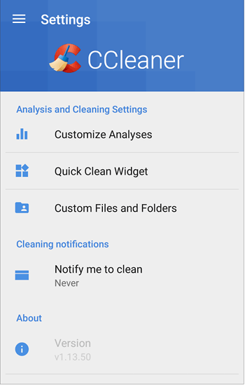 CCleaner Android- resultado Opciones en rosapanos.com - Pildoras de TIC