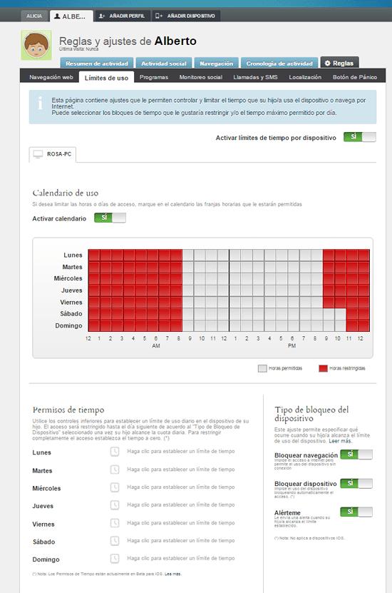 qustodio-reglas limites de tiempo Alberto en rosapanos.com-Pildoras de TIC