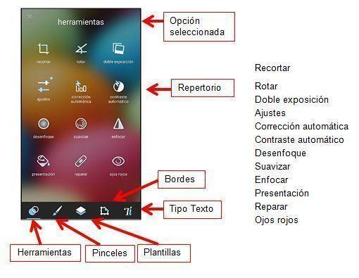 Interfaz pixlr moviles en rosapanos.com-Pildoras de TIC