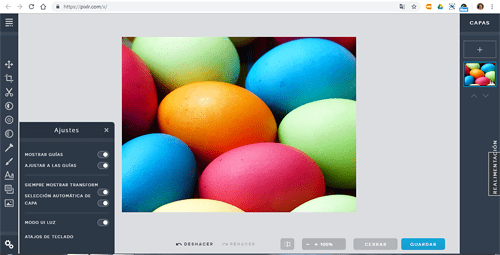 captura interfaz Pixlr X 2019 en rosapanos.com - Pildoras de TIC