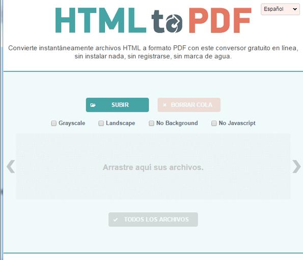 interfaz html a pdf en rosapanos.com - Pildoras de TIC (595)