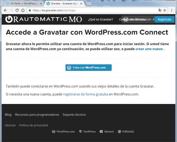 Acceder a gravatar desde wordpress (rosapanos.com -Pildoras de TIC)