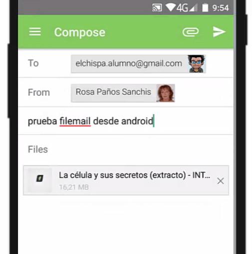 componer mensaje app filemail by rosapanos.com - Pildoras de TIC