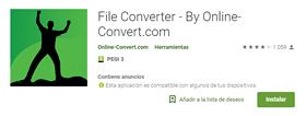 captura APP ANDROID online-convert 2019 by rosapanos.com - Pildoras de TIC