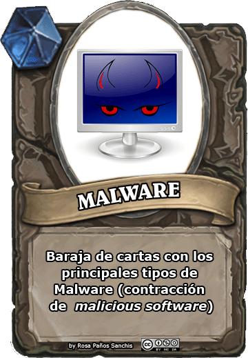 0 - PORTADA baraja malware by Rosa Paños Sanchis (Pildoras de TIC)